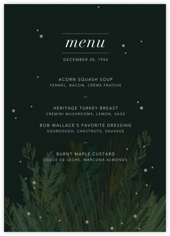 Wild Winter Bouquet (Menu) - Paperless Post -