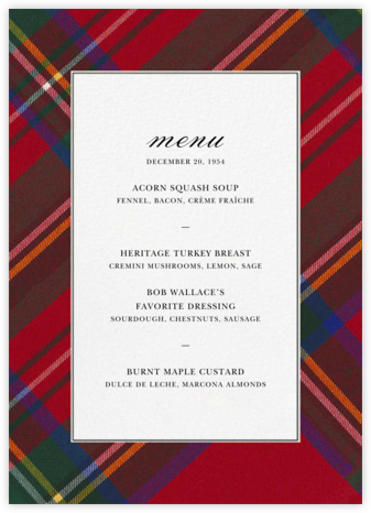Tartan (Menu) - Carnation | tall