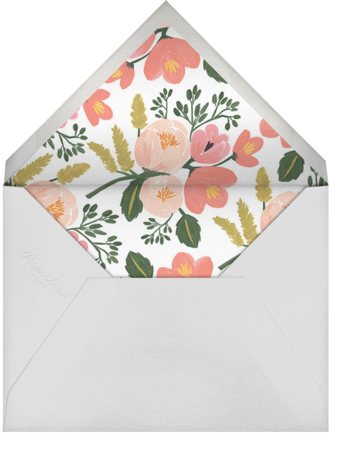 Botanic Year (Tall) - Black - Rifle Paper Co. - Graduation party - envelope back