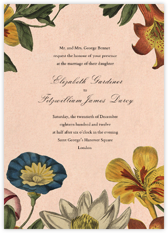 Botanica (Invitation) - John Derian - Wedding Invitations