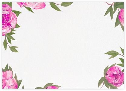 Pink Peony Border - Paperless Post - Notecards