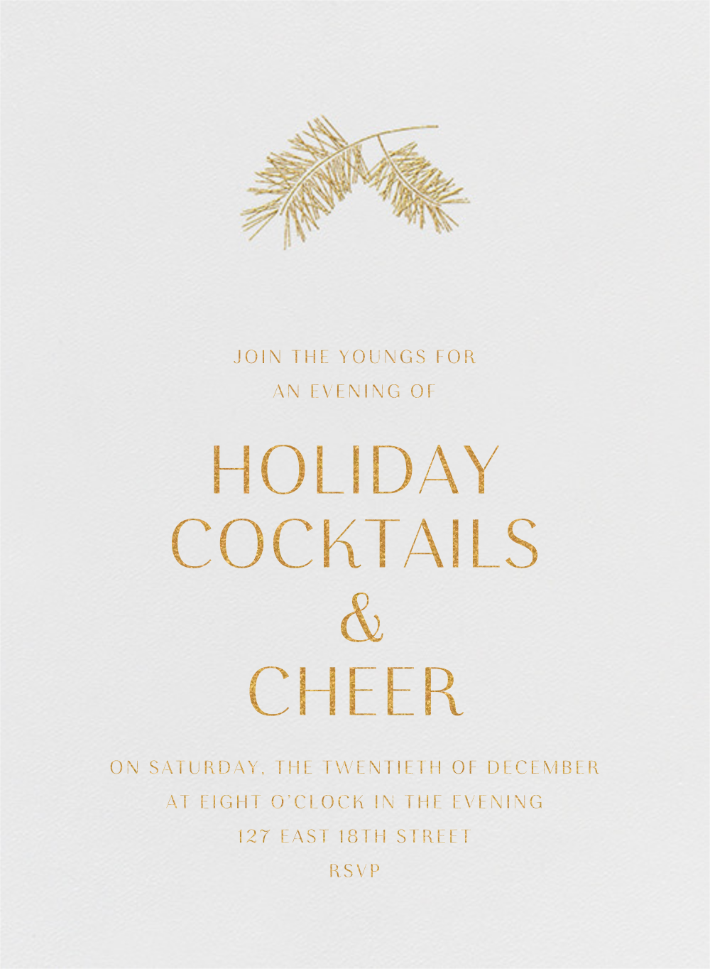 Caledonia (Invitation) - Paperless Post - Company holiday party