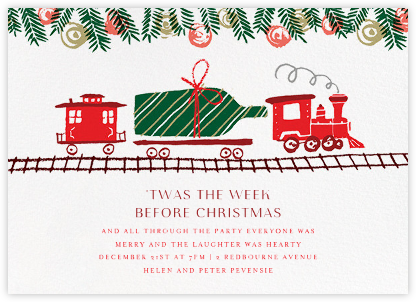 Champagne Train - Paperless Post - Christmas Party Invitations