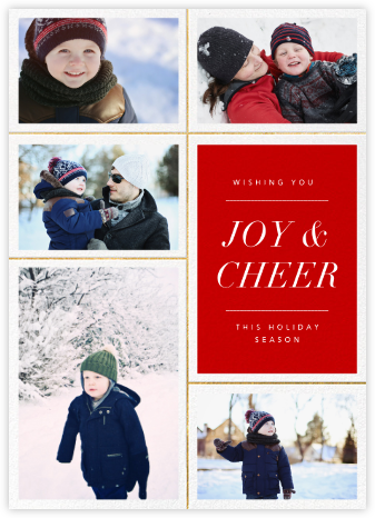 Quint - Red/Gold - Paperless Post - Holiday Cards