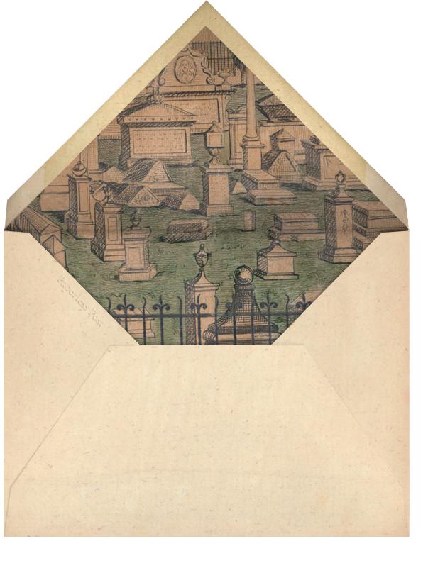 Graveyard Scene - John Derian - Halloween - envelope back