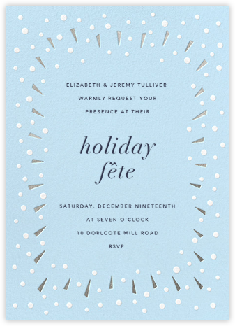 Snow Glow - Silver - Paperless Post - Holiday invitations