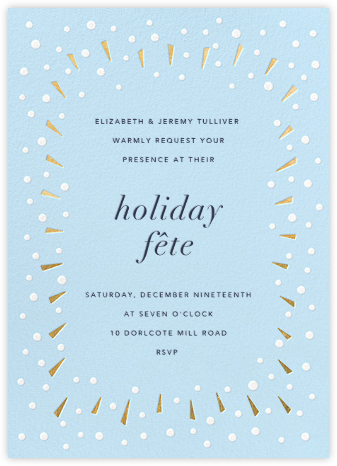 Snow Glow - Gold - Paperless Post - Holiday invitations