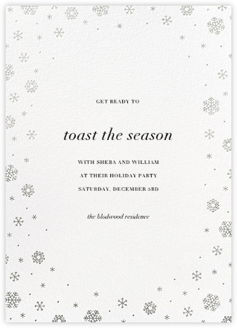 White Out (Tall) - White/Silver - Paperless Post - Holiday save the dates