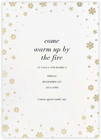 White Out (Tall) - White/Gold - Paperless Post - Holiday invitations