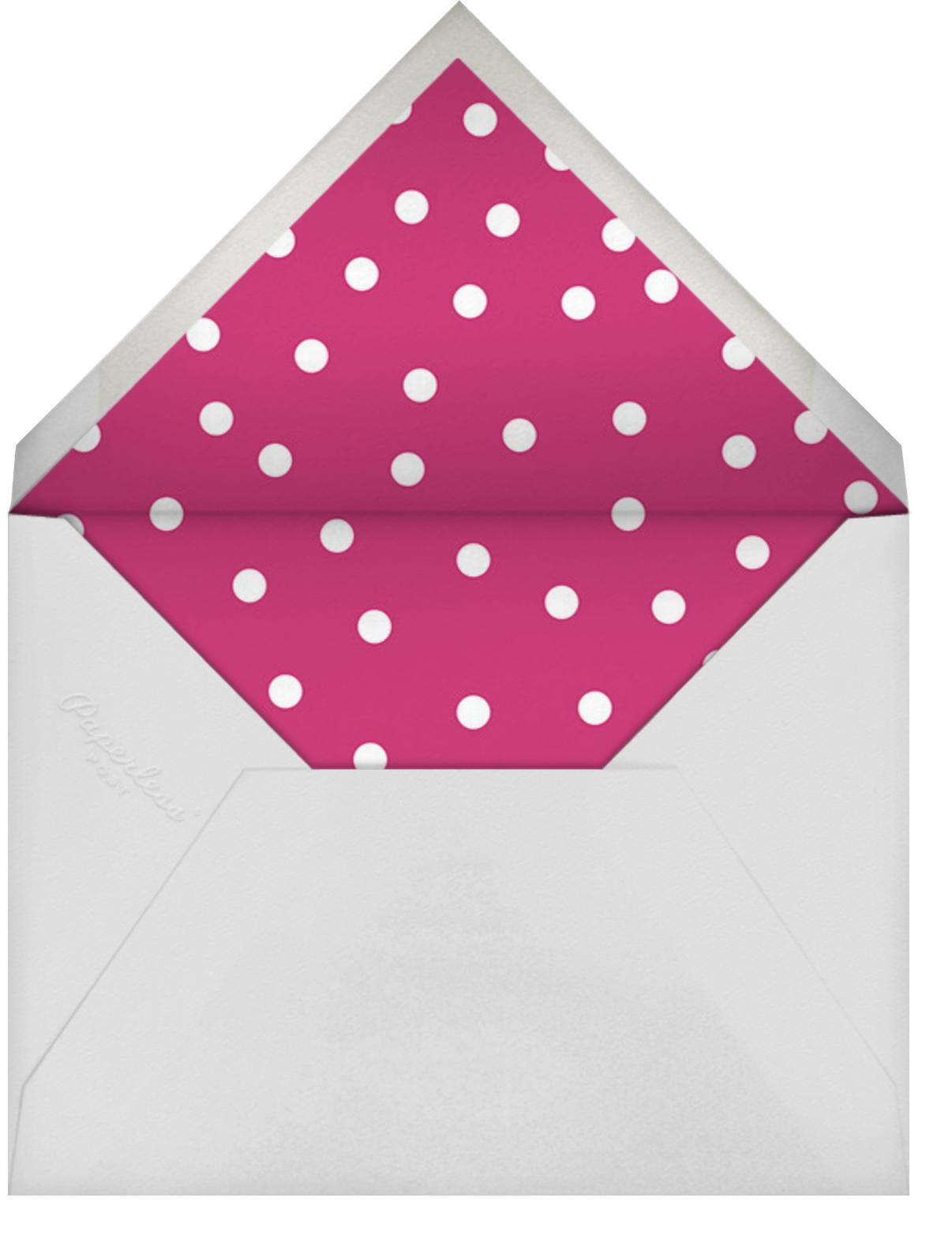 Party Script (Horizontal) - Rhubarb - Sugar Paper - Kids' birthday - envelope back