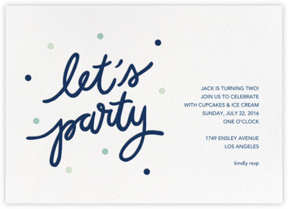 Party Script (Horizontal) - Dark Blue - Sugar Paper - Sugar Paper