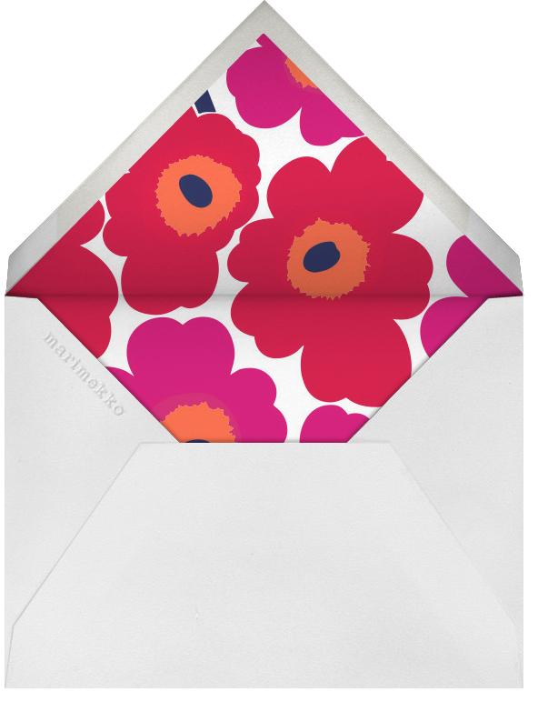 Unikko (Stationery) - Red - Marimekko - Personal Stationery - envelope back