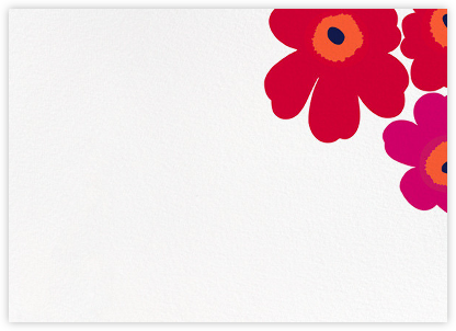 Unikko (Stationery) - Red - Marimekko - Notecards