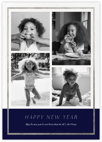 Panneaux (Multi-Photo) - Midnight/Silver - Paperless Post -