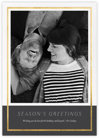 Panneaux - Slate/Gold - Paperless Post - Holiday Cards