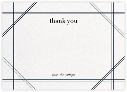 Caning (Stationery) - Navy - Jonathan Adler - Wedding thank you cards