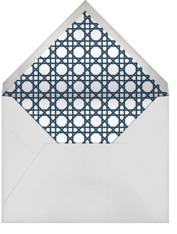Caning (Stationery) - Navy - Jonathan Adler - Wedding - envelope back