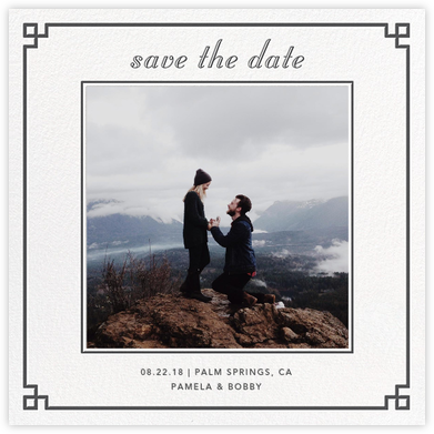 Nixon Border (Photo Save the Date) - Jonathan Adler - Save the dates