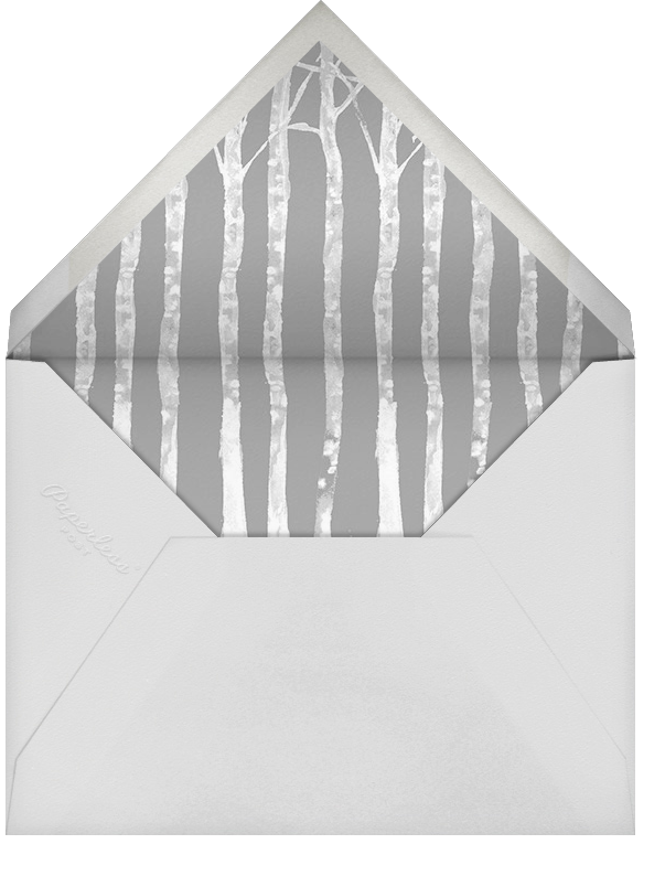 Birchwood (Invitation) - Paperless Post - Christmas party - envelope back