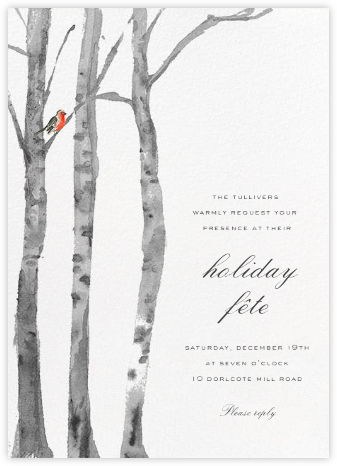 Birchwood (Invitation) - Paperless Post - Christmas invitations