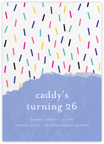 Confetti Cascade - Ashley G - Adult Birthday Invitations