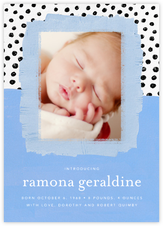 Dotscape - Blue - Ashley G - Birth Announcements