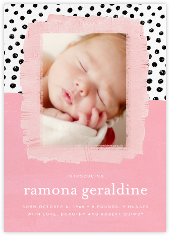 Dotscape - Pink - Ashley G - Birth Announcements