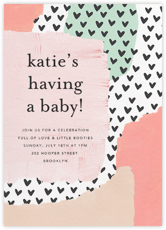 Heartscape - Ashley G - Baby shower invitations