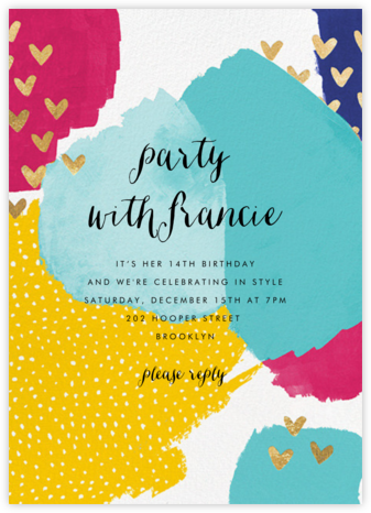 Hodgepodge Hearts - Multi - Ashley G - Invitations