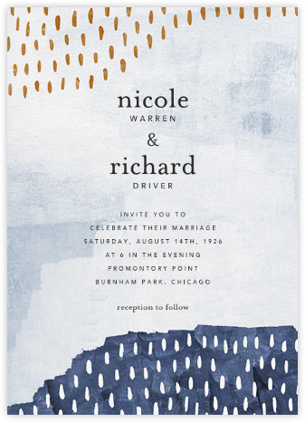 Mural (Invitation) - Tundra - Ashley G - Wedding Invitations
