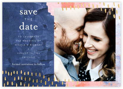 Mural (Save the Date) - Pink - Ashley G - Photo save the dates