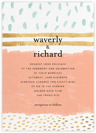 Strata (Invitation) - Sherbet - Ashley G - Wedding Invitations