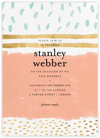 Strata - Sherbet - Ashley G - Adult birthday invitations