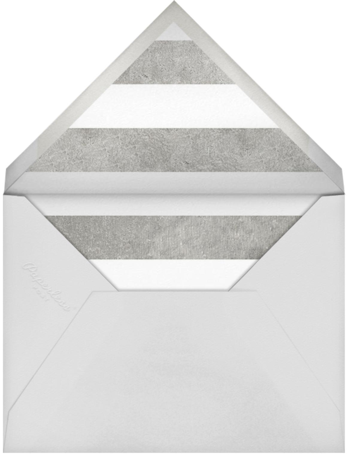 Luminous Heart - White/Silver - Sugar Paper - Engagement party - envelope back