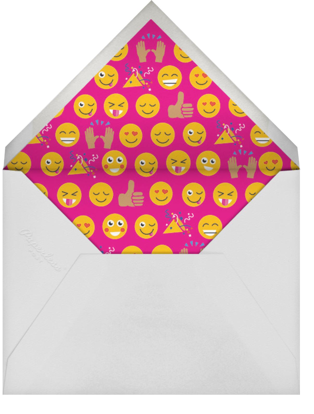 Partymojis - Medium - Cheree Berry Paper & Design - Kids' birthday - envelope back