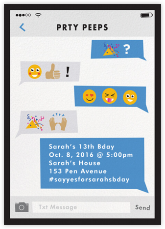 Partymojis - Medium - Cheree Berry - Online Kids' Birthday Invitations