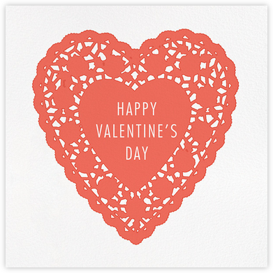 Doily Heart - Hannah Berman - Valentine's day cards