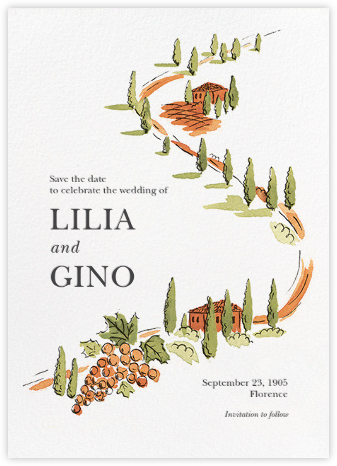 Arezzo - Paperless Post - Wedding Save the Dates