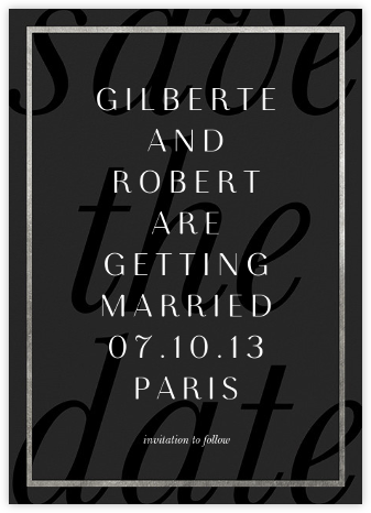 Imprint - Black/Silver - Paperless Post - Save the dates