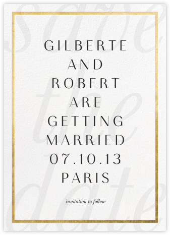 Imprint - White/Gold - Paperless Post - Save the dates