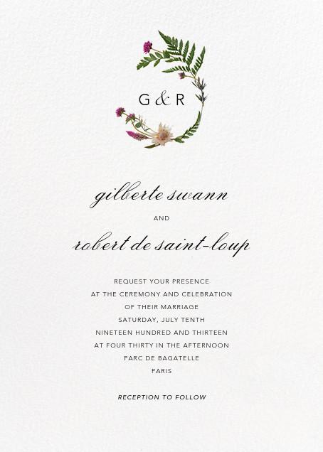 Petites Fleurs Sauvage (Invitation) - Paperless Post - Wedding invitations