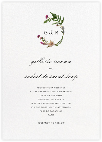Petites Fleurs Sauvage (Invitation) - Paperless Post - Online Wedding Invitations