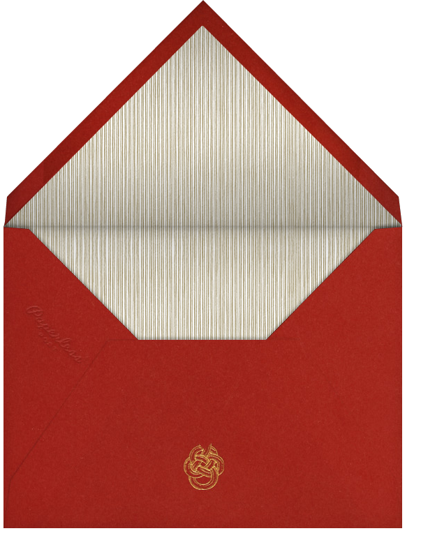 Oro (Red) - Paperless Post - Christmas party - envelope back