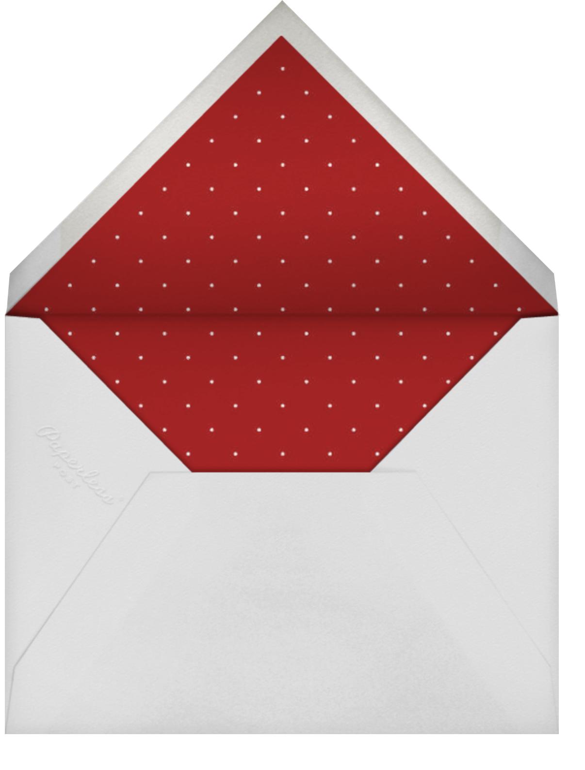 Ornaments in a Box - Mr. Boddington's Studio - Christmas party - envelope back