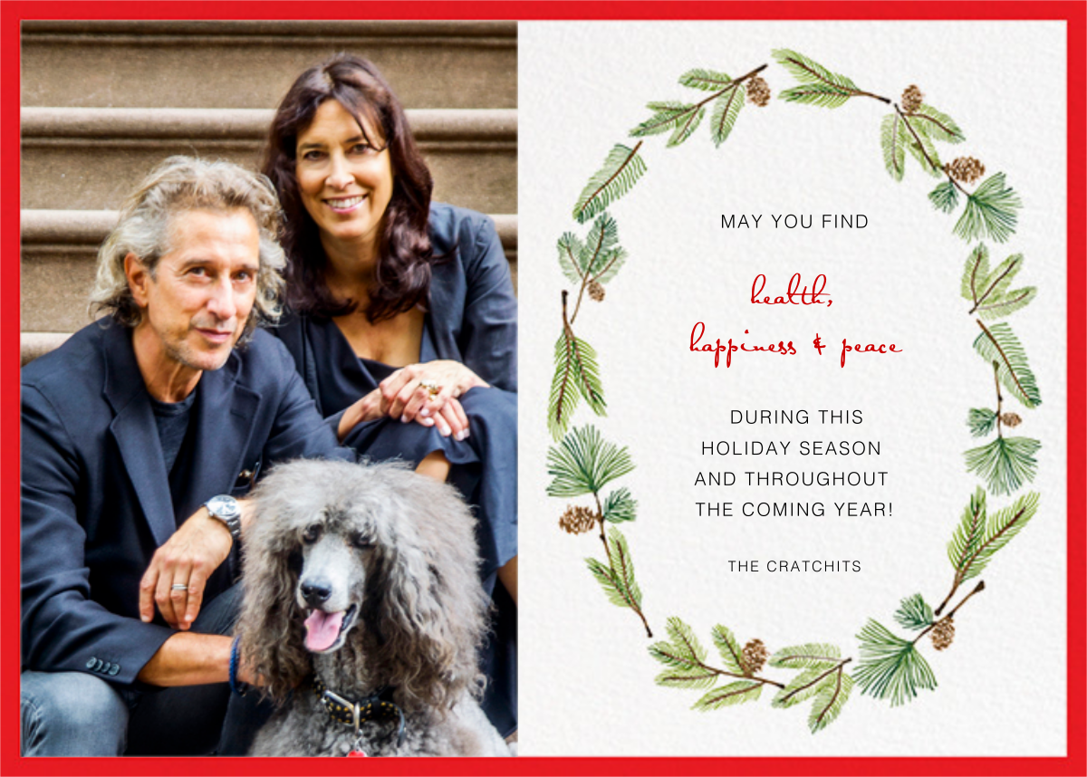 Delicate Firs Photo (Split Screen) - Paperless Post - Holiday cards
