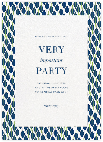 Mille Feuille - Dark Blue - Paperless Post - Dinner Party Invitations