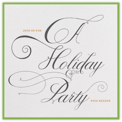 A Holiday Party - bluepoolroad - Professional party invitations and cards