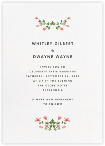 Floral Border (Tall) - Paperless Post - Wedding invitations