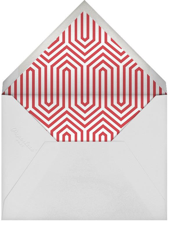 Archer - Red Green - Jonathan Adler - Christmas party - envelope back