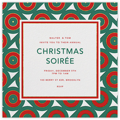 Archer - Red Green - Jonathan Adler - Holiday invitations